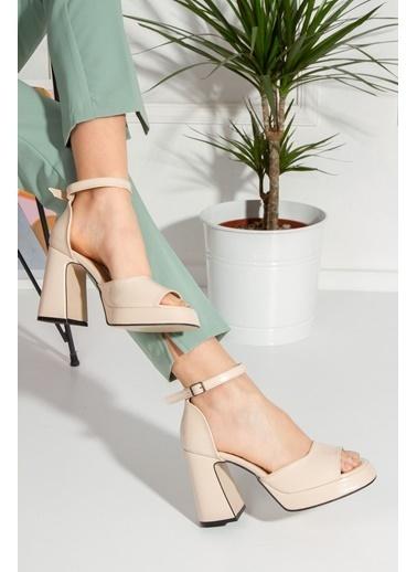 Derithy Crıstına Topuklu Ayakkabı-Platın-Byc1002 Ten